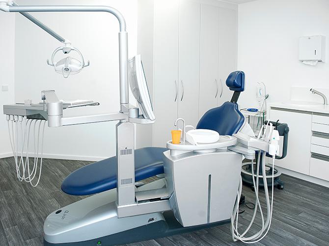 Behandlungszimmer der Praxis Lumodent Dr. Schmidt